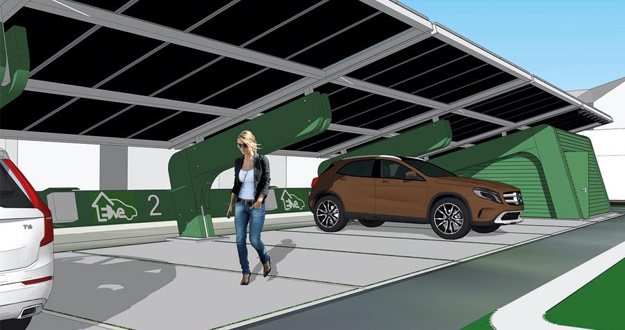 Projekt med solcellsdriven laddstation, Örebro